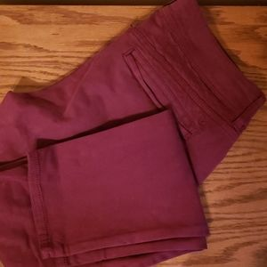 American Eagle moto Jegging maroon size 8